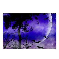 Purple Night Moon Postcards (Package of 8)