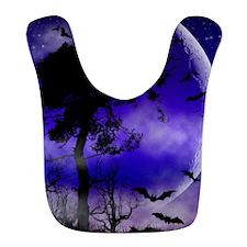 Purple Night Moon Bib