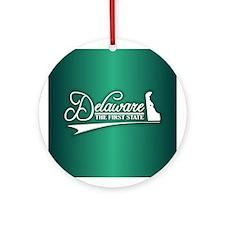 Delaware State of Mine Ornament (Round)