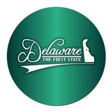 Delaware State of Mine Round Car Magnet