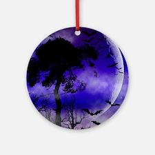 Purple Night Moon Ornament (Round)