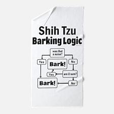 Shih Tzu Logic Beach Towel