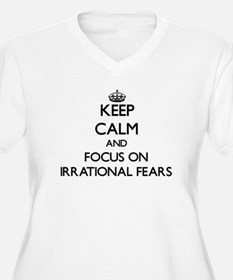 Keep Calm by focusing on Irratio Plus Size T-Shirt