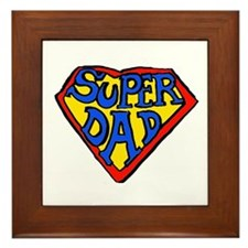 Superdad Framed Tile