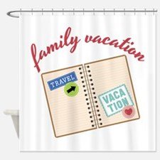 Family Vacation Shower Curtain
