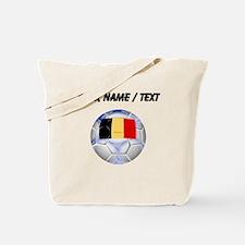 Custom Belgium Soccer Ball Tote Bag