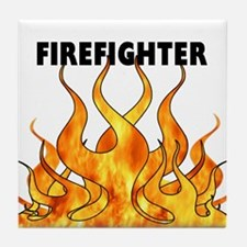 Firefighting Flames Tile Coaster