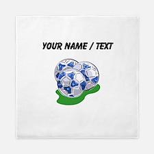 Custom Soccer Balls Queen Duvet