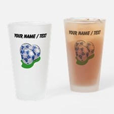 Custom Soccer Balls Drinking Glass