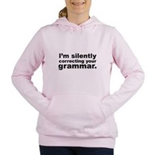 Cute Silently correcting your grammar Women's Hooded Sweatshirt