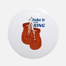 Take it To The RINK Ornament (Round)
