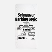 Schnauzer Logic Beach Towel