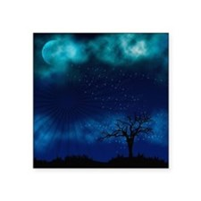 "Blue Moon Night Square Sticker 3"" x 3"""
