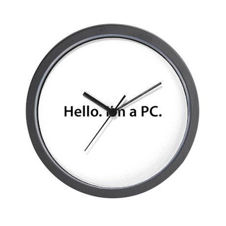 Hello. I'm a PC Wall Clock
