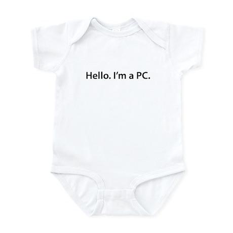 Hello. I'm a PC Infant Bodysuit