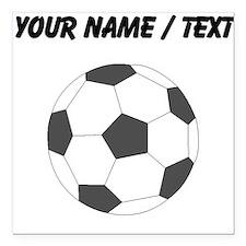 """Custom Soccer Ball Square Car Magnet 3"""" x 3"""""""