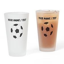 Custom Soccer Ball Drinking Glass