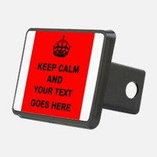 Keep calm and Your Text Hitch Cover
