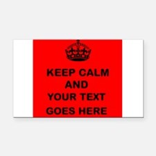 Keep calm and Your Text Rectangle Car Magnet