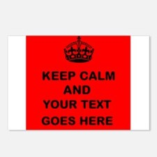 Keep calm and Your Text Postcards (Package of 8)