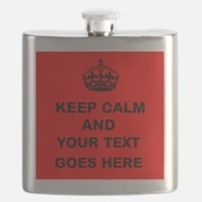 Keep calm and Your Text Flask