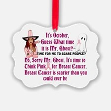 Breast Cancer is Scary Ornament