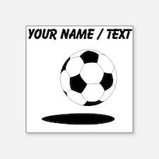 Custom Soccer Ball With Shadow Sticker