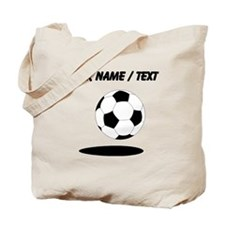 Custom Soccer Ball With Shadow Tote Bag