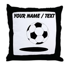 Custom Soccer Ball With Shadow Throw Pillow
