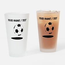 Custom Soccer Ball With Shadow Drinking Glass