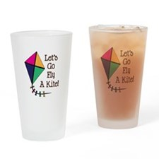 Fly a Kite Drinking Glass