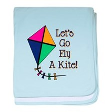 Fly a Kite baby blanket