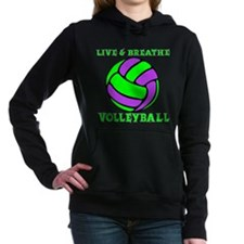 LIVE, BREATHE VB Women's Hooded Sweatshirt