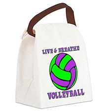 LIVE, BREATHE VB Canvas Lunch Bag