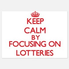 Keep Calm by focusing on Lotteries Invitations