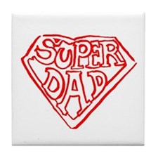 Superdad Tile Coaster