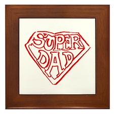 Superdad Framed Tile