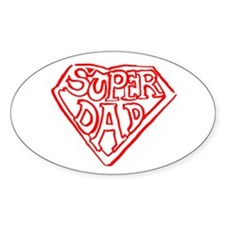 Superdad Oval Decal