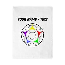 Custom Soccer Ball Twin Duvet