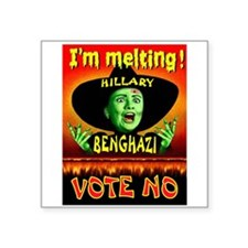 Hillary Witch Sticker