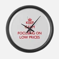 Keep Calm by focusing on Low Pric Large Wall Clock