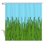 Tall Grass And Blue Sky Shower Curtain
