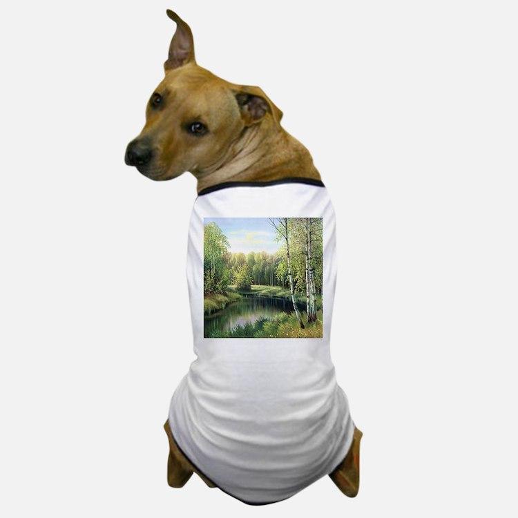 Woodland Painting Dog T-Shirt