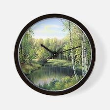 Woodland Painting Wall Clock