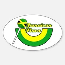Jamaican Flavour Oval Decal