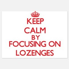 Keep Calm by focusing on Lozenges Invitations