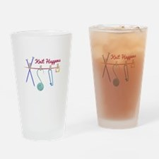 Knit Happens Drinking Glass