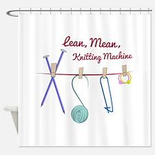 Knitting Machine Shower Curtain
