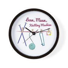 Knitting Machine Wall Clock