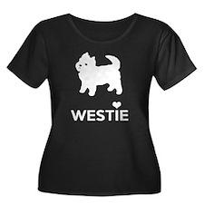 I Love Westie Dogs Plus Size T-Shirt